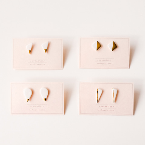 mura-blanca mini earrings
